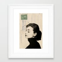 audrey Framed Art Prints featuring Audrey by NORI