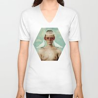 serenity V-neck T-shirts featuring Serenity by Seamless