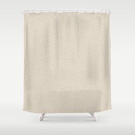 Dense Melange - White and Khaki Brown Shower Curtain