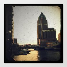 Milwaukee Dusk Canvas Print