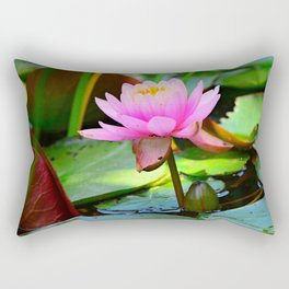 Water Lily Flower Aquatic Plant Rectangular Pillow