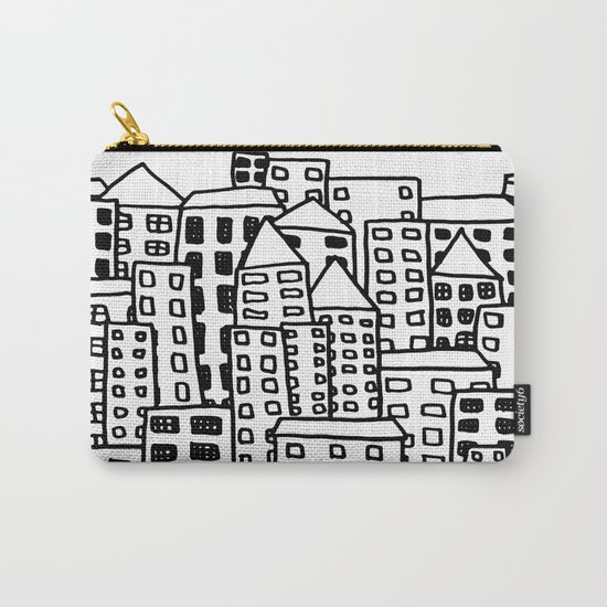 Cityscape Doodling Carry-All Pouch