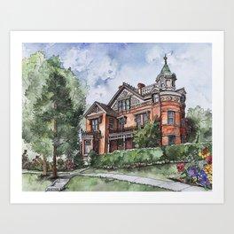 Armstrong Mansion Art Print