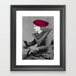 Raspberry Beret Framed Art Print