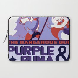 Purple Puma & Tiger Millionaire! Laptop Sleeve