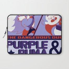 Purple Puma & Tiger Millionaire! Laptop Sleeve