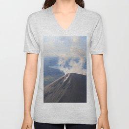 Karymsky Volcano Unisex V-Neck