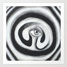Eye Spiral Out Art Print