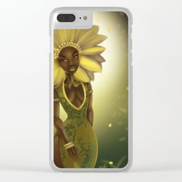 The Trailing African Daisy Clear iPhone Case