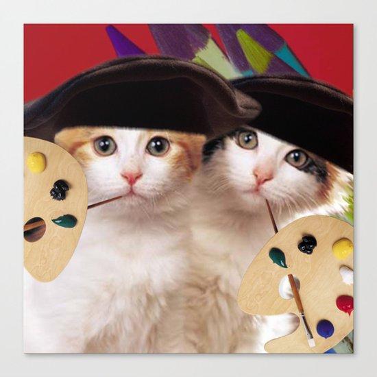 cateou twins Canvas Print
