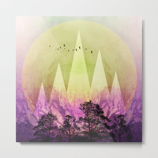 TREES under MAGIC MOUNTAINS III Metal Print
