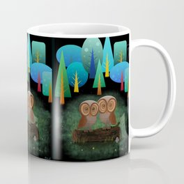 Owl Pals In The Forest Coffee Mug
