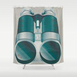 Bloody Binoculars Shower Curtain
