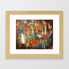 An Oasis In A Desert Abstract Painting Framed Art Print