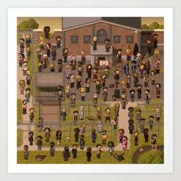 Super Walking Dead: Prison Art Print