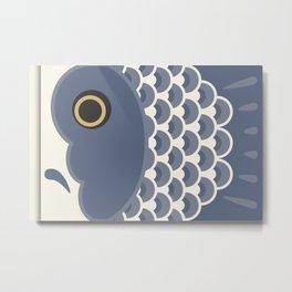 Koinobori | Grey Metal Print