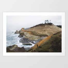 Cliffs of Cape Kiwanda Art Print