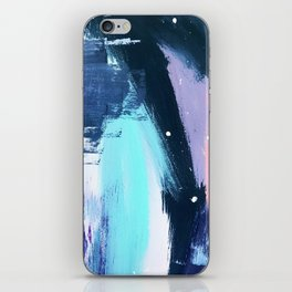 Playful [3]: a bold abstract piece in vibrant blues, pink, purple and white iPhone Skin