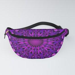 Purple Leaves Kaleidoscope Mandala Fanny Pack