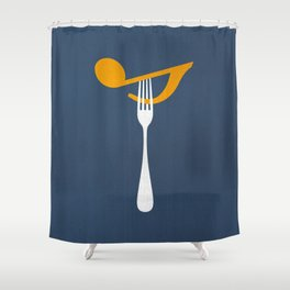 Hungry For Music Shower Curtain