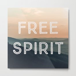 Free Spirit (Mountains) Metal Print