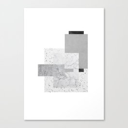 White and grey boxes Canvas Print