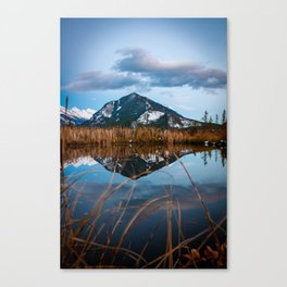 Sunset At Vermillion Lakes Canvas Print