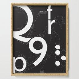 Gill Sans Poster Design Serving Tray