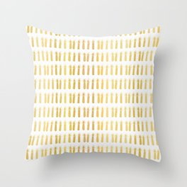 Luxe Gold Light a Candle Pattern, Hand Drawn Seamless Vector Illustration Throw Pillow