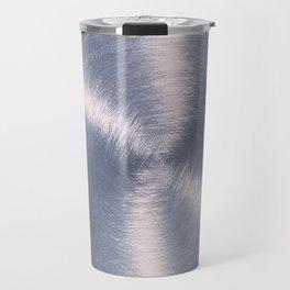 Silver Metallic Stainless Steel Pattern Travel Mug