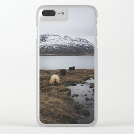 Sheep in Iceland Clear iPhone Case