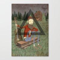 bon iver Canvas Prints featuring Bon Iver by Doug Crookston