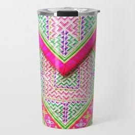 Hmong cloth Travel Mug