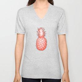 Coral Pineapple Unisex V-Neck