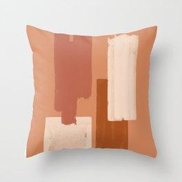 Burnt Orange Art, Terracotta Abstract Shapes Throw Pillow