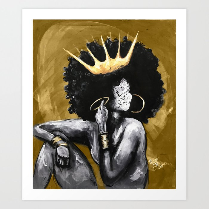 Naturally Queen VI GOLD Kunstdrucke
