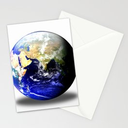 Earth Globe East Shadow Stationery Cards