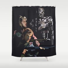 Targeted for Termination (The Terminator) Shower Curtain