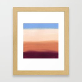 Desert Dust Storm Framed Art Print
