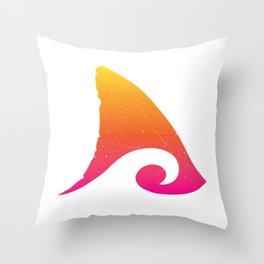Sharkwave Throw Pillow