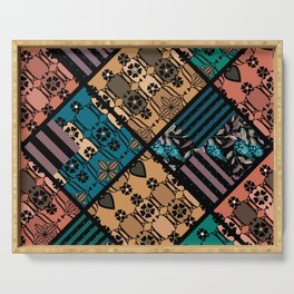 rustic patchwork Serving Tray
