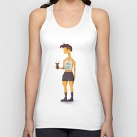 oakland Tank Tops featuring Hipster Argentino in Oakland by Patricio Sebastian Pomies