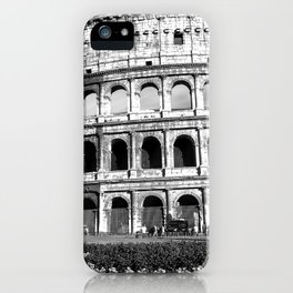 Black and White Colosseum iPhone Case