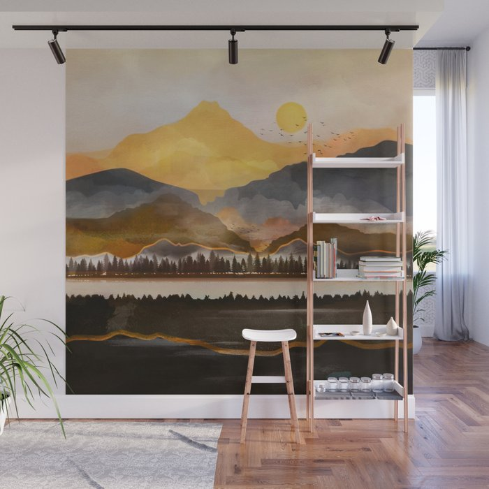Pure Wilderness at Dusk Wall Mural