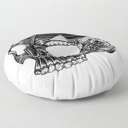 Skull - I Floor Pillow