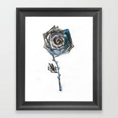 Royal Blue Rose Framed Art Print