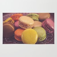 macaroons Area & Throw Rugs featuring French Macaroons by ELIZABETH THOMAS Photography of Cape Cod