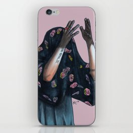 Floral Ghost iPhone Skin