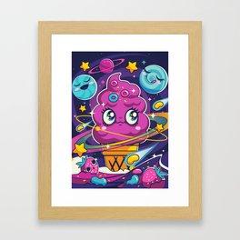 Sugar High: Cosmic Swirl Framed Art Print