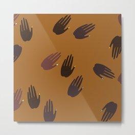 Melanin Hands Metal Print